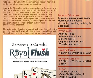 TEATRO EN INGLÉS - ROYAL FLUSH