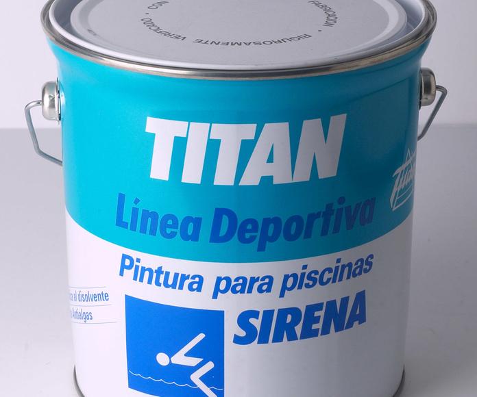 Pintura piscinas Sirena al disolvente de Titan