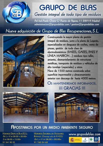 Nueva nave adquirida por Grupo de Blas Recuperaciones, S.L