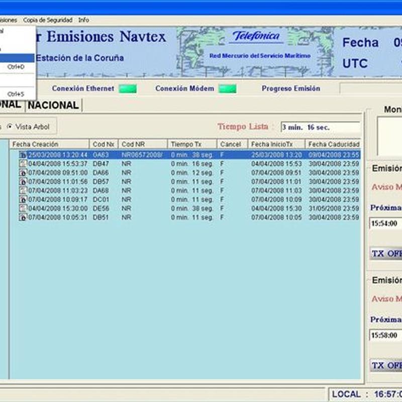 Software de gestión de transmisión Navtex: Productos de Invelco