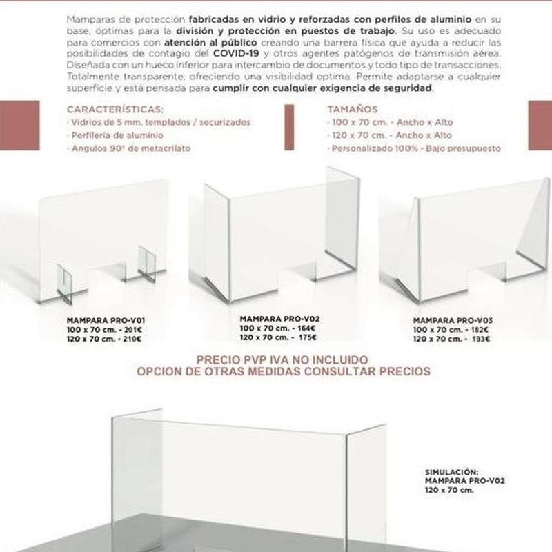 Mamparas de protección de vidrio para atención al publico : Servicios de Cristalería Fernando