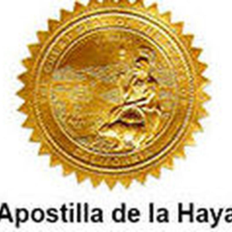 Legalización de documentos. Apostilla de la Haya