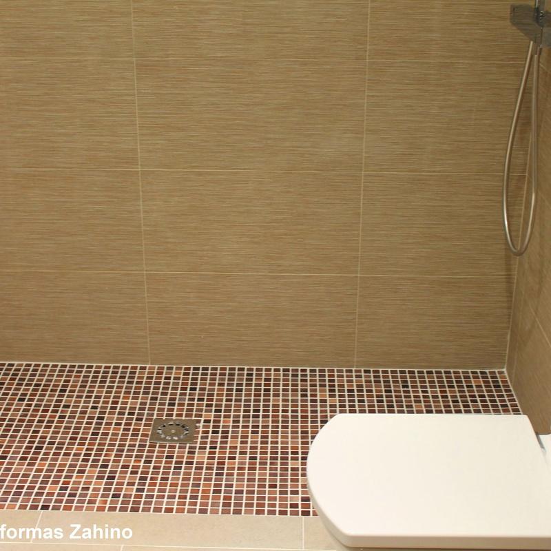 Plato de ducha en gresite