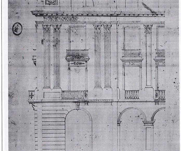Alzado del modulo de fachada del proyecto ganador del concurso