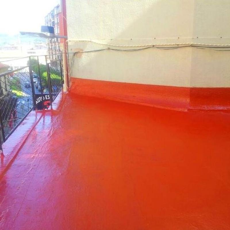Impermeabilización de terraza con malla geotextil en Torrelavega.