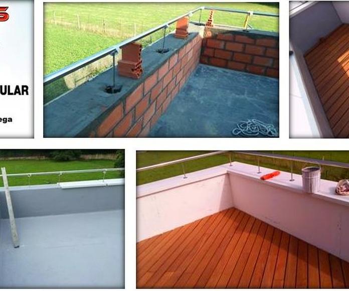 Reforma de terraza con acabado de tarima de madera ipe
