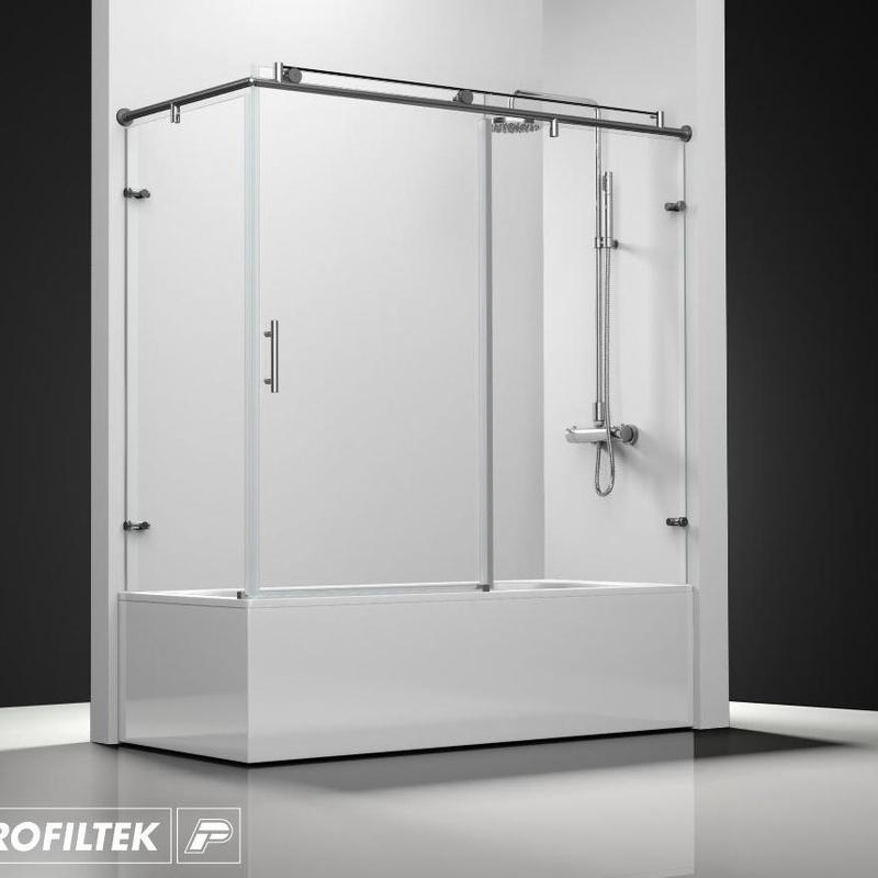 Mampara de baño Profiltek serie Steel ST-101 classic