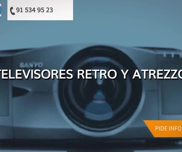 Alquiler de equipos audiovisuales en Madrid centro | Alqui-Tele