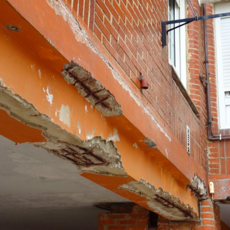 Rehabilitación de fachada en Torrelavega-Santander.