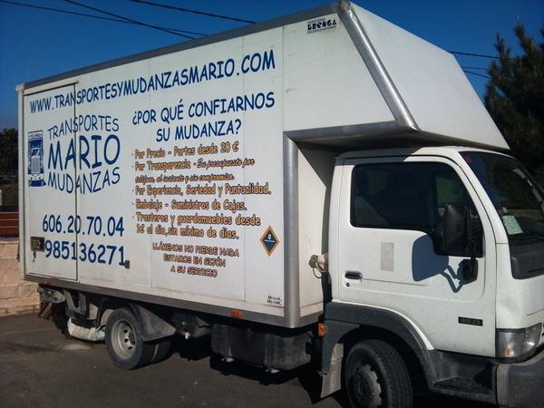 Las mudanzas más baratas en Gijón las realiza Transportes Mario