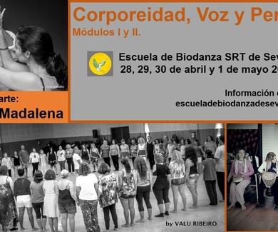 Corporeidad, Voz y Percusión. En Sevilla durante el puente de mayo.