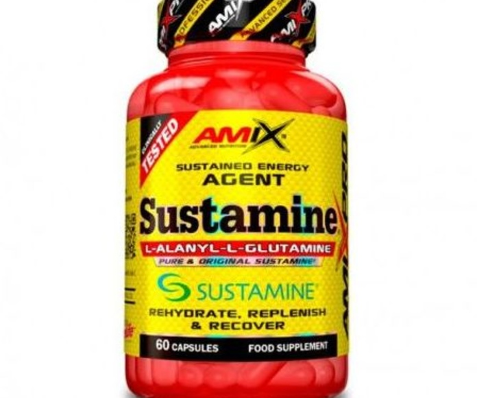 Amix™ Sustamine™ es un complemento alimentico basado en un ingrediente recuperador único producido a partir de un método de fermentación patentado que crea un dipéptido formado por la combinación de L-Glutamina y L-Alanina. Este dipéptido es mucho más peq