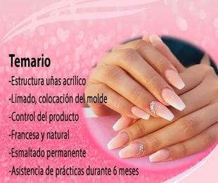 Curso intensivo construcción de uñasen acrílico y esmaltado permanente