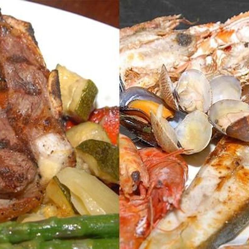 Rest. La Barca del Salamanca. Combinados de pescado y marisco: Menús restaurantes de Grupo Silvestre