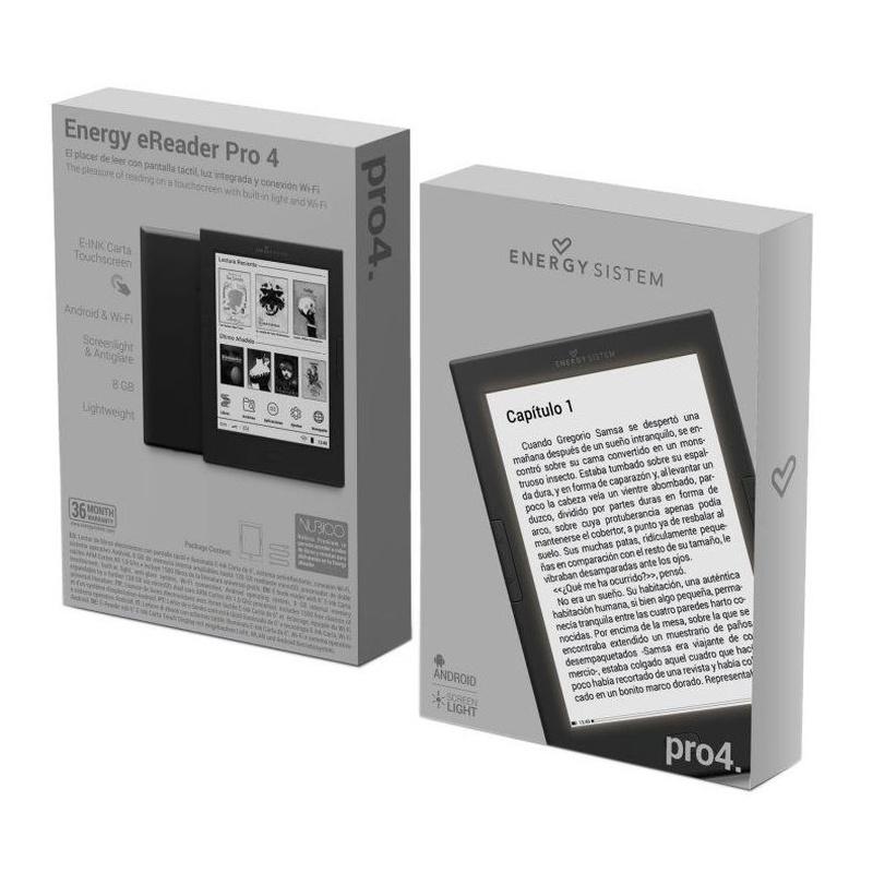 """Energy Sistem ebook eReader Pro 4 6"""" Tactil Luz: Productos y Servicios de Stylepc"""