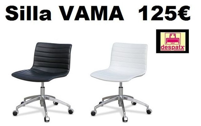 silla vama blanca, negra o marrón a 125 €