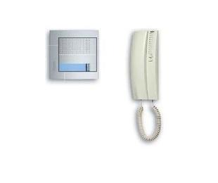 Kit audio 2 hilos con teléfono SWING y placa SFERA New. 1 vivienda. 376111