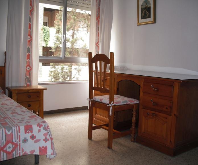 29 habitaciones dobles o individuales: Instalaciones y servicios de Residencia Universitaria El Pilar