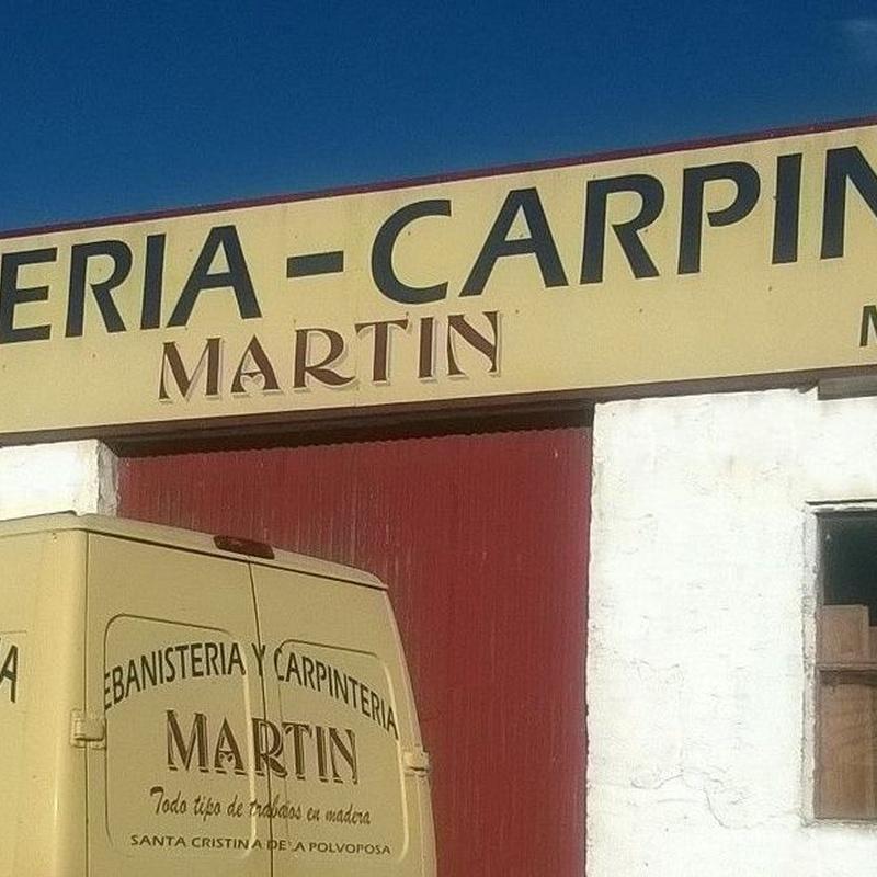 Servicios : Servicios de Ebanistería y Carpintería Martín