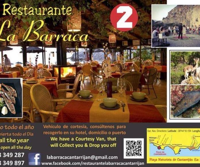 Celebraciones y  bodas en La Barraca