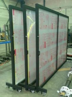 Paneles metálicos de policarbonto translucido para tren de lavado