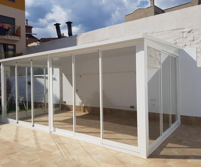 Cerramientos de terraza: Productos y servicios de Alusan López