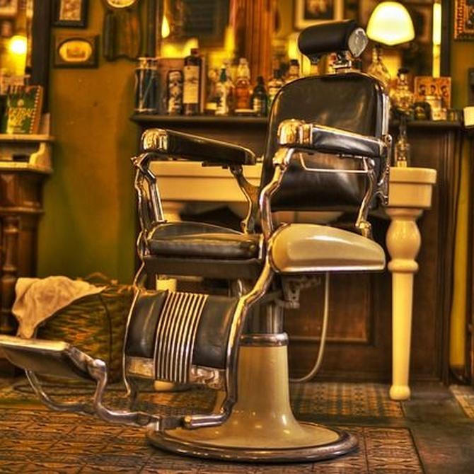Los niños en la barbería
