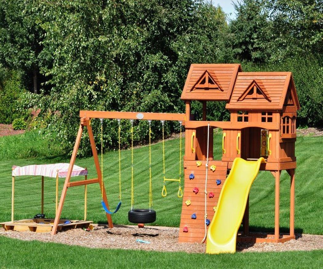Los jardines también son un lugar de juego para los más pequeños
