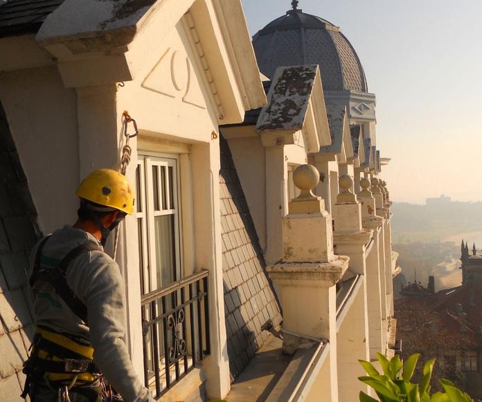 Restauración de fachadas en Santander.