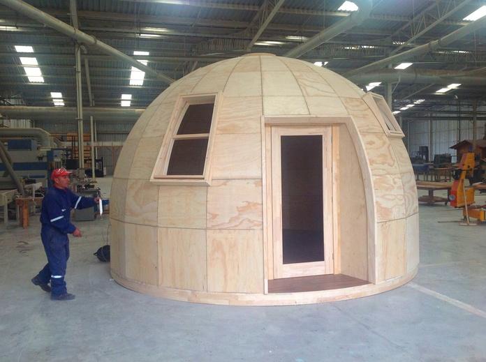 Cabaña Cúpula madera www.cortelima.es