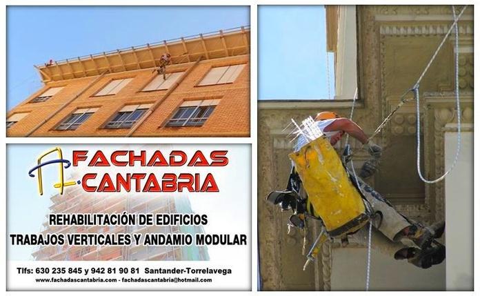 Trabajos verticales sin andamios en Santander.