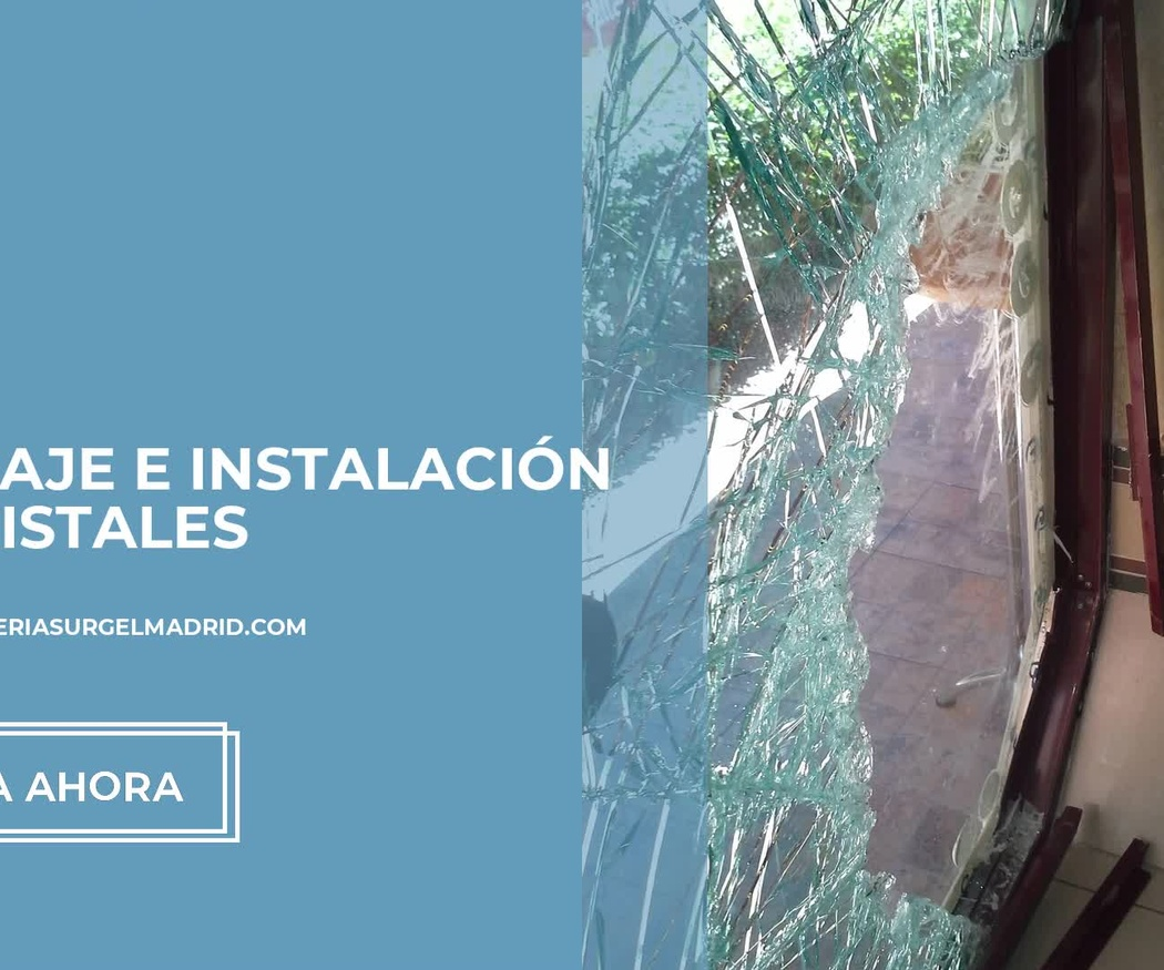 Cristalería urgente en Carabanchel, Madrid