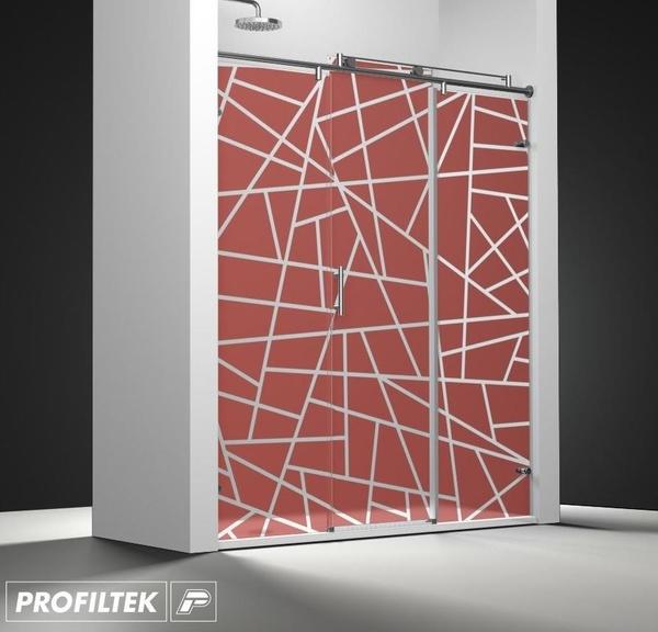Mampara de baño Profiltek corredera serie Steel modelo ST-211 Classic decoración Forever