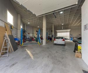 Interior del taller mecánico