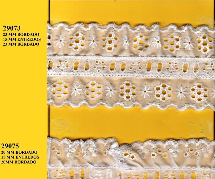 TIRA BORDADA ENTREDOS FRUNCIDO 29073-29075