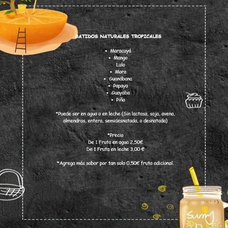 Batidos:  de Cafetería la Bernarda