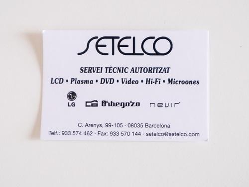 Fotos de Televisión, Vídeo y Sonido (reparación) en Barcelona | Setelco