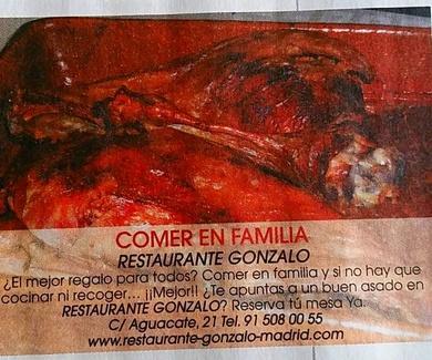 Metrópoli Publicación. Restaurante Gonzalo Carabanchel