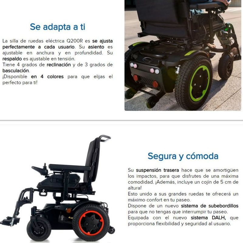 Silla de rueda eléctrica Q200R: Catálogo de Ortopedia Bentejui