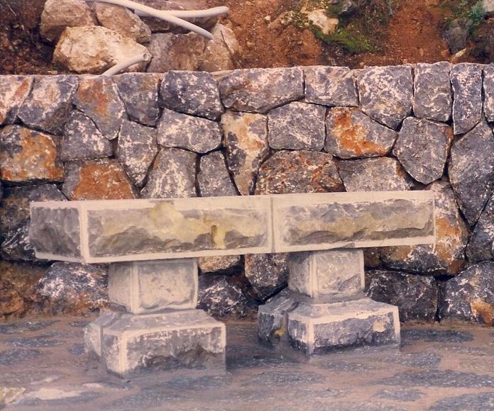 Banco de piedra natural