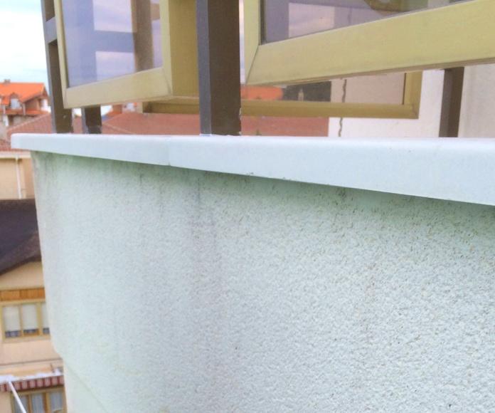 Vierteaguas y albardillas de hormigón polímero