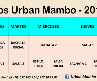 Horario Urban Mambo