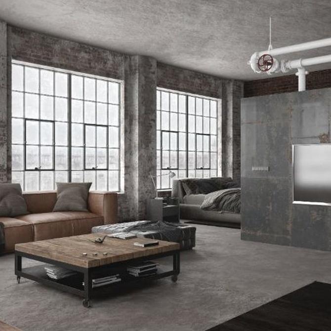 Un interior de estilo loft