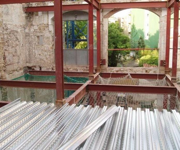 Refuerzos y rehabilitaciones: Servicios y Proyectos de Estructures Metal.Liques Quintana