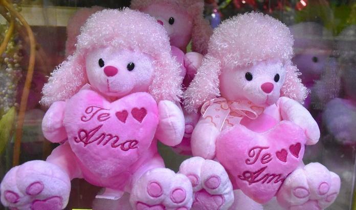 Perrito rosa Te amo:  de Floristería Contreras