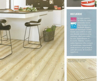 Quick-Step Impressive Ultra IMU-1860. Pino Natural en Planchas.