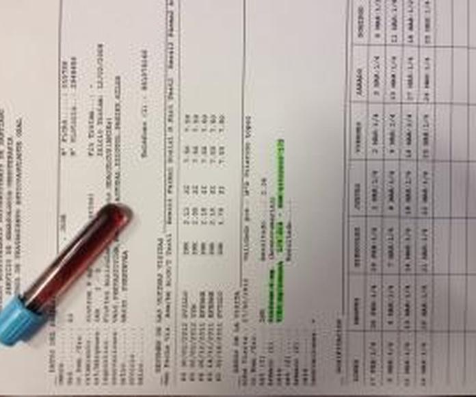 Análisis clínicos : Productos y Servicios  de Residencia Puentevea