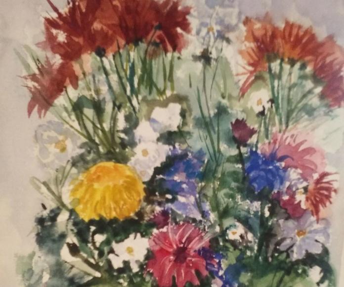 Crisantemos  36 x 28