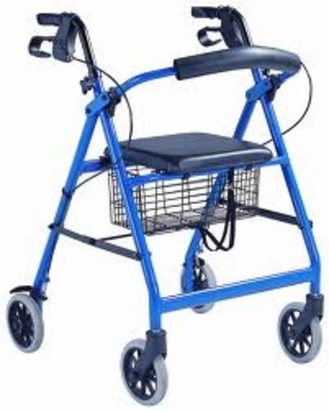 Andadores con cuatro ruedas , asiento y frenos de palanca: TIENDA ONLINE de Ortopedia La Fama