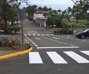 Pintura de señalización de calzada en Las Palmas
